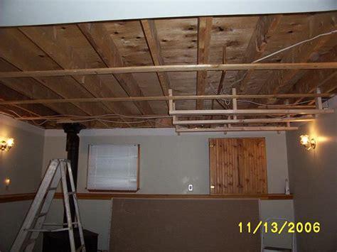 gyproc  plaster basement rec room ceiling