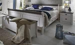 Schlafzimmer Weiß Landhaus : bett nachtkommode truhe schlafzimmer set kiefer massiv wei grau landhaus kaufen bei saku ~ Sanjose-hotels-ca.com Haus und Dekorationen