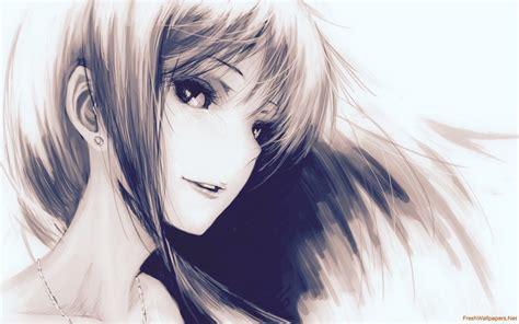 Anime Girl Drawing Wallpaper Anime Girl - Drawings Inspiration