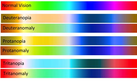 different types of color blindness how green colorblindness is different from other types
