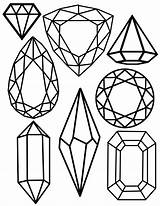Gem Printable Crystal Gems Jewel Coloring Pages Drawing Christmas Merry Jewels Freebie Crystals Template Gemstones Printables Diamond Templates Sheets Hope sketch template
