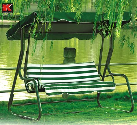 single seat canopy awning porch steel recliner swings