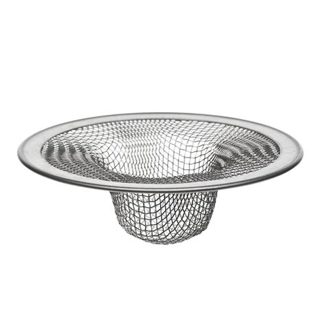 mesh sink strainer home depot danco 2 3 4 in mesh tub strainer in stainless steel 88821