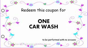 free printable coupons for unique gift ideas With car wash coupon template