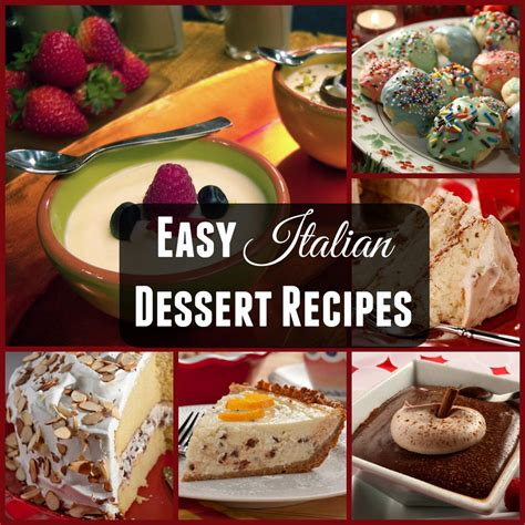 dessert recipes in italian dessert recipes mrfood