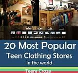 Most popular teen shopping