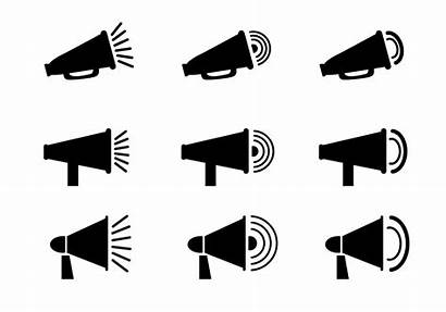 Megaphone Vector Icon Clipart System Graphics Edit