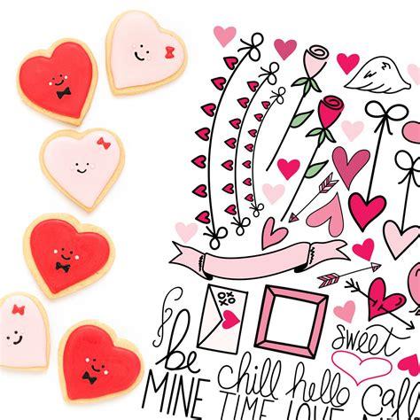 Love word arrow free svg cut file hello everyone! Free Valentine's Planner Stickers - Kelly Lollar Designs