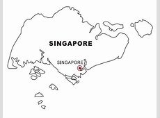 Map of Singapore coloring page & book for kids
