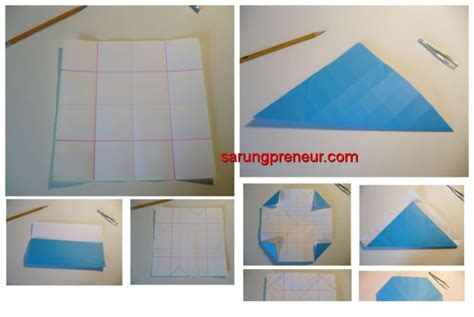 membuat origami bunga mawar sarungpreneur