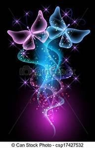 マジック 透明 蝶 そして 白熱 星 csp のベクター クリップアート、イラスト、絵