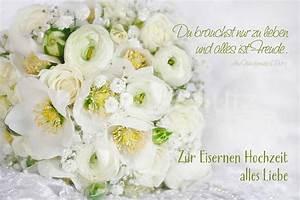 Glückwunschkarten Zur Goldenen Hochzeit : eiserne hochzeit wei er strauss www stimmungs ~ Frokenaadalensverden.com Haus und Dekorationen