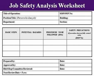 job safety analysis template excel project management With job hazard assessment template