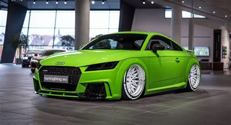 Audi Tt Fv Tuning Blog With White Rotiform Qlb Alloy