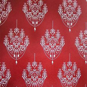 Red Chandelier Self Adhesive Wallpapers
