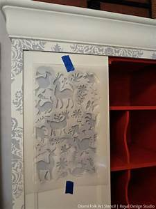 20 diy cabinet door makeovers with furniture stencils With what kind of paint to use on kitchen cabinets for diy stencil wall art