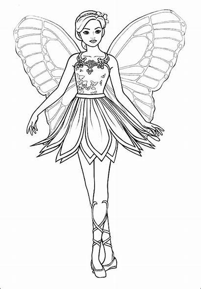 Barbie Mariposa Dibujos Colorear Pintar Imprimir Sirena