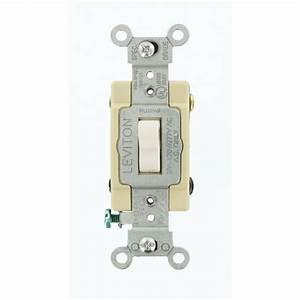 Leviton 20 Amp Industrial Grade Heavy Duty 4-way Toggle Switch  White-1224-sw