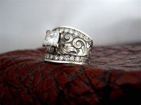 engagement rings fit for a cowgirl earrings rings