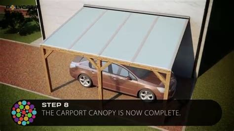 carport canopy installation guide  structured polycarbonate youtube