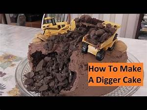 how to make a digger excavator birthday cake youtube With digger cake template