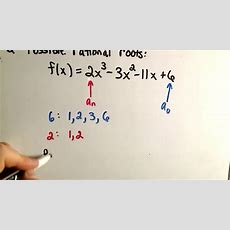 Rational Roots Test  Theorem Youtube