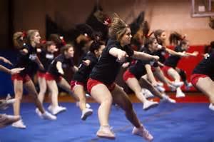 High School Cheerleading Practice