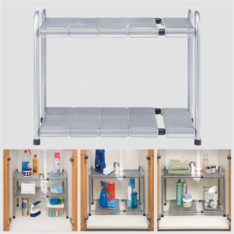 under cabinet shelving bathroom 2tier under the sink shelf adjustable expandable cabinet
