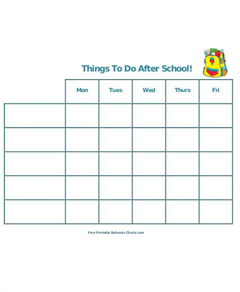 school schedule template after school schedule template 11 free word pdf format free premium templates