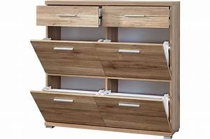Meuble à Tiroir : meuble chaussures 4 portes et 2 tiroirs ~ Melissatoandfro.com Idées de Décoration