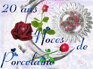 anniversaire de mariage noce 20 ans noces de porcelaine