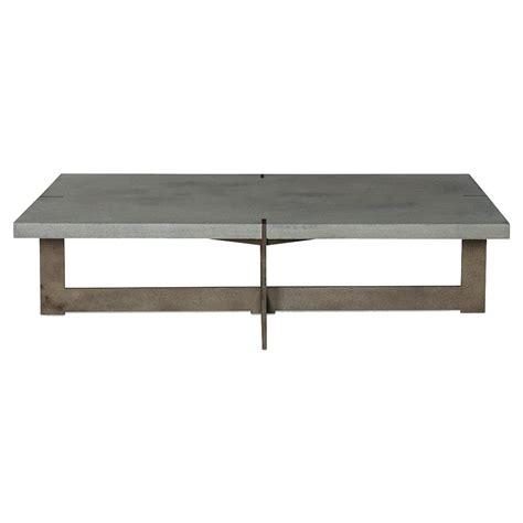 rustic gray coffee table jullen industrial loft grey stone rustic steel outdoor