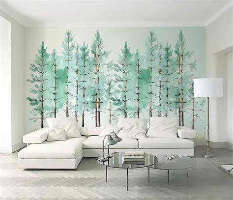 intip motif wallpaper dinding ruang tamu terbaru