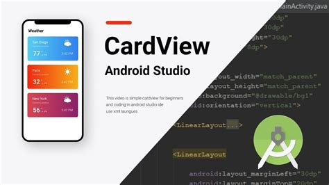 cardview  android studio tutorial xml youtube