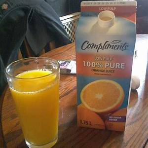 Compliments Low Pulp 100  Pure Orange Juice Reviews In Juice