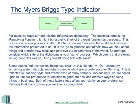 Myers Briggs Type Indicator (mbti) & Team Building