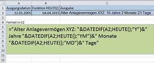 Excel Alter Berechnen Aus Geburtsdatum : excel berechnen von zeitr umen ~ Themetempest.com Abrechnung