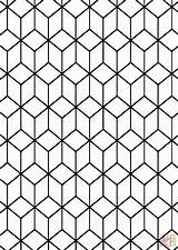 Coloring Weaving Square Weave Clipart Tessellation Patterns Pattern Line Drawing Woven Transparent Geometric Rhombus Symmetry Dahlia Visual Fabric Arts Popular sketch template