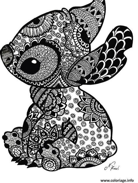 coloriage mandala disney stitch tattoo jecoloriecom