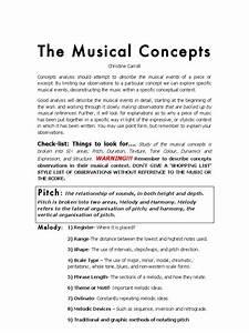 Concepts Checklist