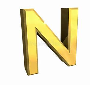 gold 3d letter n stock illustration illustration of play With gold letter n