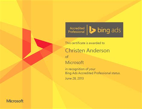 bing ads accredited professional program