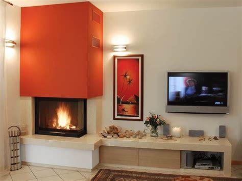 caminetto moderno ad angolo  panca stoves