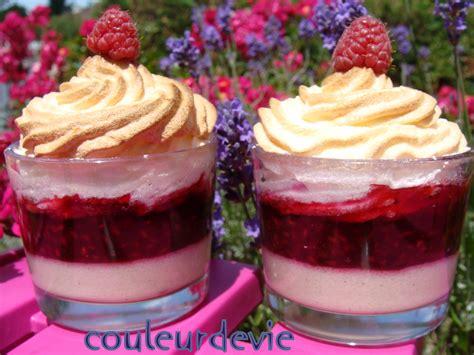 pudding de semoule vanille meringu 233 aux framboises couleurdevie