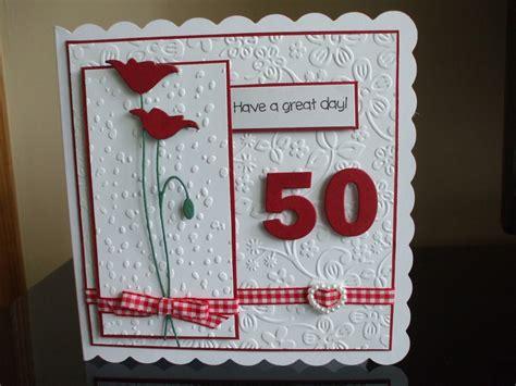 handmade  birthday card female prim poppy die card