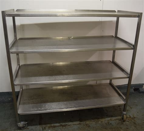 tier stainless steel strager rack  wheels caterquip