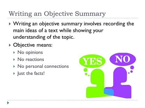 Writing An Objective Summary  Ppt Video Online Download. Equipment Operator Resume. New Home Sales Consultant Resume. Activities On Resume. Resumé Template. What Is Cv Means Resume. Resume For Internal Position. Personal Statement Resume. Administrative Assistant Resume Example