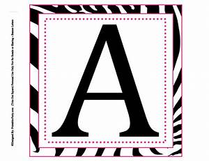8x8 inch large square printable alphabet letters With black letter banner