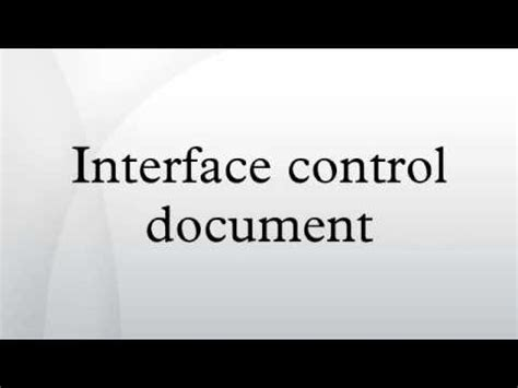 Interface Control Document Youtube
