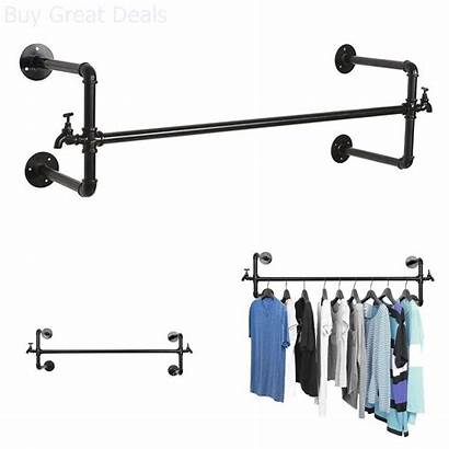 Wall Rod Rack Metal Clothes Hanging Closet